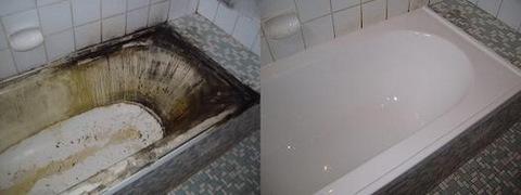 акриловый вкладыш. качественная реставрация ванны