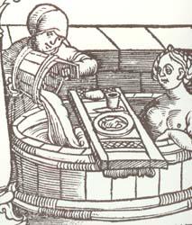 купания в Париже в средние века